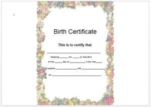 Birth certificate template 09
