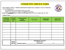 Community service letter template