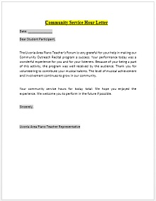 Community Service Letter Template For Students from excelshe.com