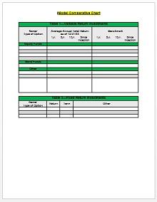 Comparison Chart Template 02