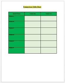 Comparison Chart Template 06