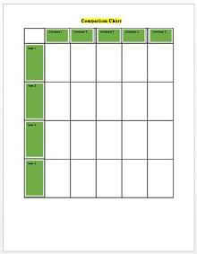 Comparison Chart Template 07