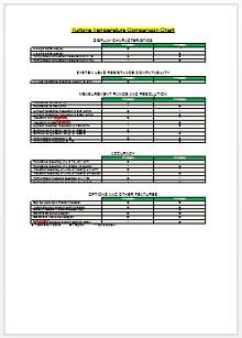 Comparison Chart Template 11