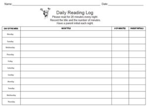 Daily reading log 03