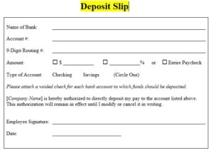 Deposit Slip Template 02