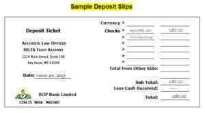 Deposit Slip Template 06