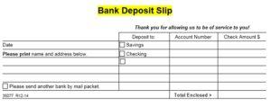 Deposit Slip Template 10