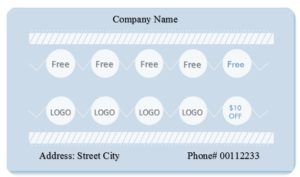 Editable punch card template 01