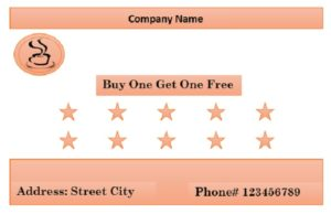 Editable punch card template 05