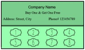 Editable punch card template 06