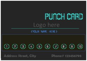Editable punch card template 08