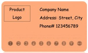 Editable punch card template 09