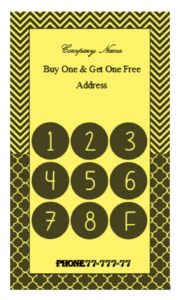 Editable punch card template 10