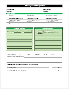 notice to employee template