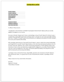 Immigration letter