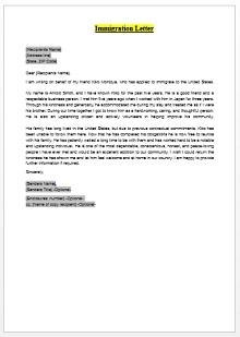 Immigration letter 08