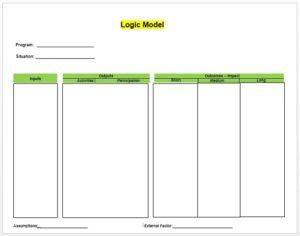 Logic Model Template 06