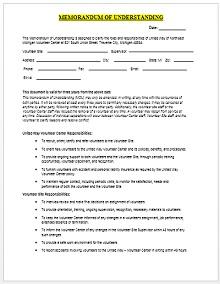 Memorandum of Understanding Template 07
