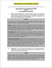 Memorandum of Understanding Template 08