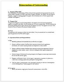Memorandum of Understanding Template 09