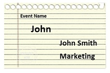 Name tag template 04