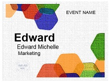 Name tag template 05