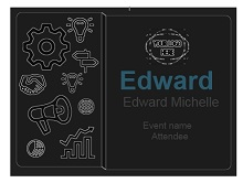 Name tag template 06