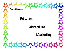 Name tag template 07