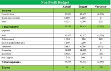 Non profit budget template 01