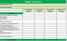 Non profit budget template 02