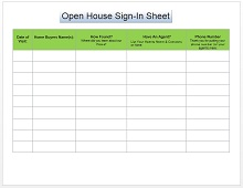 Open house sign in sheet 04