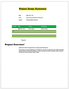 Project scope example 02