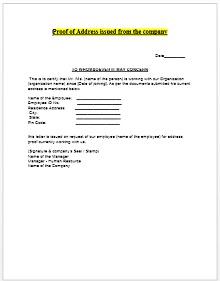 proof of residency letter from family member