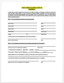 proof of residency letter sample