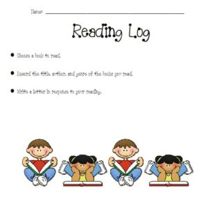 Reading log template 01