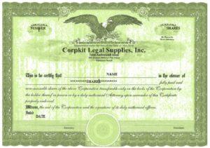 Stock certificate template 09
