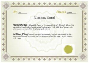 Stock certificate template 11