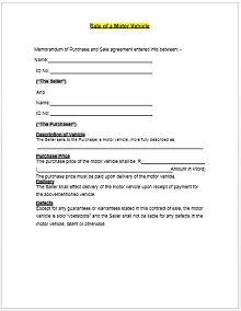 Vehicle purchase agreement 03