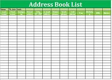 Address Book Template 04