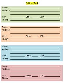 Address Book Template 08