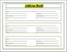 Address Book Template 10