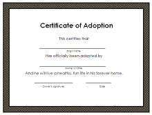 photograph about Printable Adoption Certificate called 40+ Adoption Certification Template (PDF, Term) 2019 » ExcelSHE