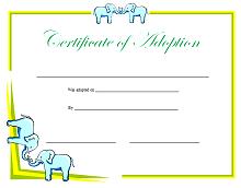 printable adoption certificate