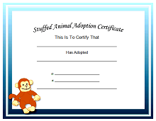 printable adoption certificate