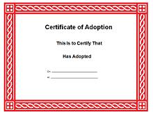 Adoption certificate 14
