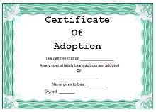 adoption certificate maker