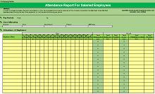 employee attendance register