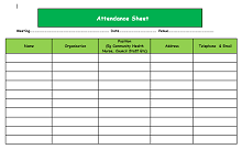 employee attendance spreadsheet