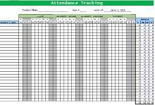 employee attendance template