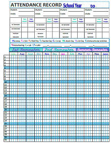 image about Free Printable Employee Attendance Tracker named 30+ Worker Attendance Tracker Templates » ExcelSHE